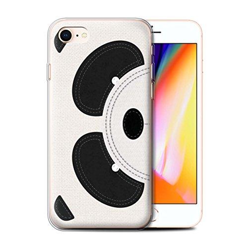 Stuff4 Gel TPU Hülle / Case für Apple iPhone X/10 / Pinguin Muster / Genähte Tier Effekt Kollektion Panda