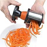 Multifunzione Spirale Imbuto Wire, Griglia staccabile in Acciaio Inossidabile, Nero Argento 2,9 * 2,9 ' ' Pelapatate Gadget, Facile da usare Tritatore per Verdure/Frutta