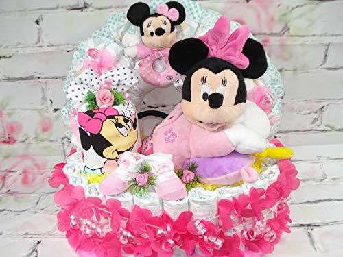 XL Windeltorte Große Disney Minnie Maus Spieluhr Babyparty Geburt Taufe