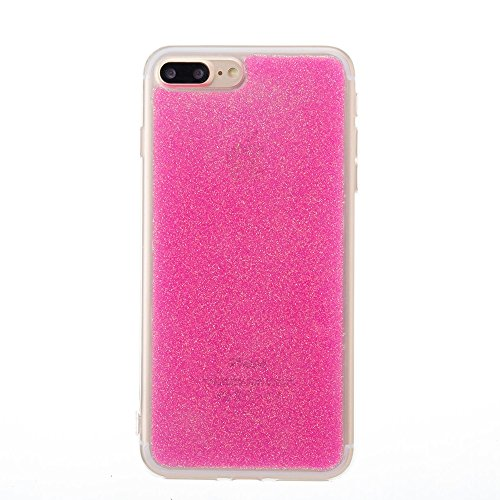 GR Soft TPU Gel Cover Case [Anti-Kratzer] Glänzender Glitter 360 ° voller Coverage Rückseitige Abdeckung [Shockproof] für iPhone 7 Plus ( Color : Rose ) Rose