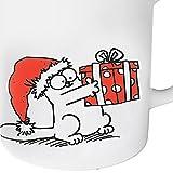 Simon´s Cat Weihnachtstasse 'Katze mit Geschenk' - 2