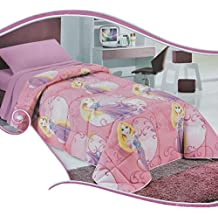 Funda de edredón para cama individual, diseño de la princesa Rapunzel de Disney N661 individual
