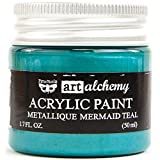 Finnabair Art Alchemy Acrylic Paint 1.7 Fluid Ounces-Metallique Mermaid Teal