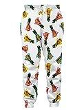Loveternal Unisex Hosen Ananas Muster 3D-Druck Casual Hosen Bunte Grafik Jogger Baggy Sweatpants L