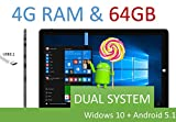 11 inch Intel Quad-core Z8300 1.8Ghz CPU Windows 10 & Android 5.1 Dual System Tablet PC 2G RAM/32GB ROM With Full Hd Retina Display 1920*1200 Dual Cameras Windows 10 WiFi Bluetooth Google Play 11' tablet PC Chuwi Tablet PC (11inch 2GB 32GB)