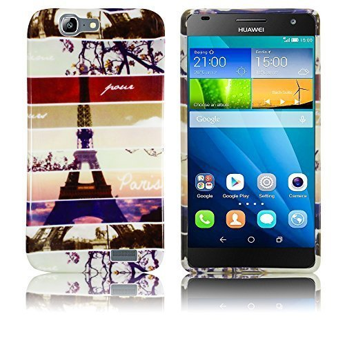 Huawei Ascend G7 Silikon Schutz-Hülle Instagram Paris Eiffelturm weiche Tasche Cover Case Bumper Etui Flip smartphone handy backcover thematys®