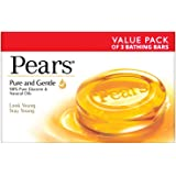 Pears Pure and Gentle Soap Bar, 125 g (Pack of 3)