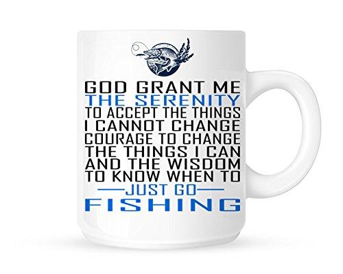 Serenity Gebet für die Fisherman–Fun Neuheit Hobby/Sport Themed Tee/Kaffee Becher/Tasse, Geschenkidee (Aa Tee)
