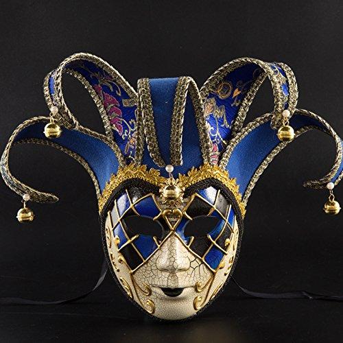 YCZZ Halloween Kostüm Ball Maske, Party Performance Zubehör 16 * 43 cm Riss 55 (weiblich) - blau (Zorro Weibliche Kostüm)