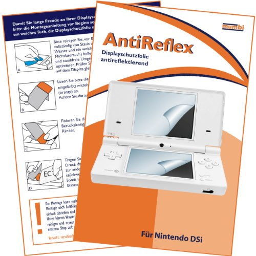 """4 x mumbi Displayschutzfolie Nintendo DSi / DS-i NDSi NDS-i \""""AntiReflex\"""" Displayschutz antireflektierend für Bildschirm UND Touchscreen"""