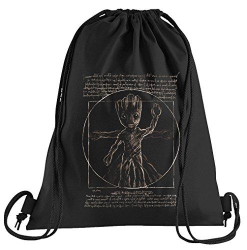 T-Shirt People Da Groot Sportbeutel - bedruckter Beutel - eine schöne Sport-Tasche Beutel mit Kordeln