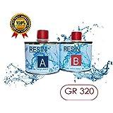 resina epoxi LIQUIDISSIMA SUPER transparente g 320 fibra BICOMPONENTE A B-EFFETTO agua para creaciones transparente-resina para joyas-resina para creaciones moldes-BESTSELLER de RESIN PRO