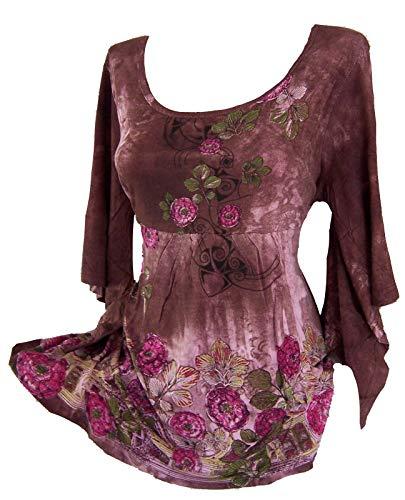 Versandhausware Tunika Longshirt Batik Flower Neu 914638 (40/42)