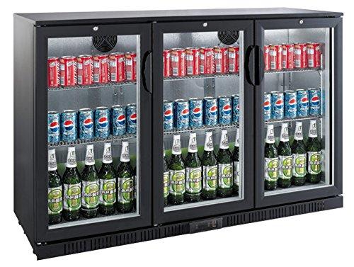 Flaschenkühlschrank mit 3 Klapptüren Kühlschrank Getränkekühlschrank Gewerbekühlschrank 330 Liter Gastrokühlschrank