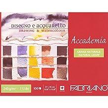 Unbekannt Fabriano 42402735 Zeichenblock, Baumwolle, weiß, 27 x 35 x 1 cm