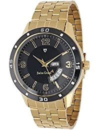 Swiss Grand SG1251 Golden Coloured With Golden Stainless Steel Strap Quartz Watch For Men