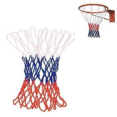 Durable hilo de nailon est ndar para deportes de baloncesto Hoop malla Backboard Rim Ball Pum