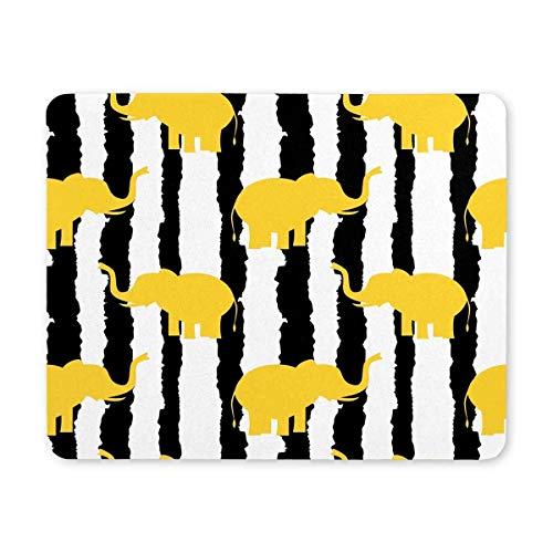 Luancrop Mousepad, Elefantes Amarillos Lindos rectangulares de Encargo en Alfombrilla de ratón