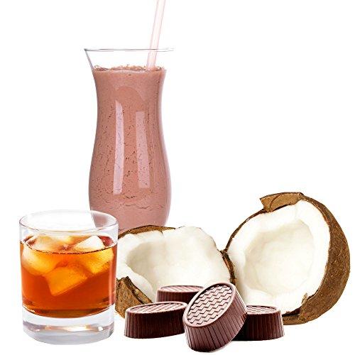 Kokos Rum Praline Geschmack Proteinpulver Vegan mit 90% reinem Protein Eiweiß L-Carnitin angereichert für Proteinshakes Eiweißshakes Aspartamfrei (1 kg)