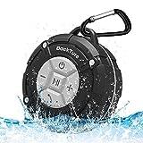 Enceinte de Douche, Backture Speaker Bluetooth Enceinte Waterproof avec ventouses Microphone Mains Libres Téléphone Enceinte Mini (Gris)