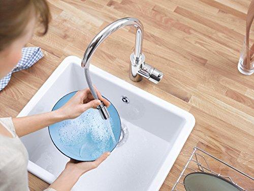 Grohe – Concetto Küchenarmatur, hoher Auslauf, Schwenkbereich 360°, Chrom - 9