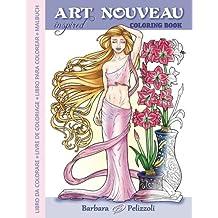 Art Nouveau Inspired Coloring Book: Libro da colorare - Livre de coloriage - Libro para colorear - Malbuch