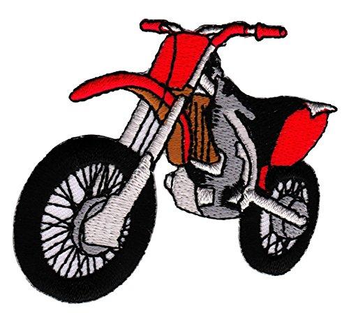 Motorrad Rot Enduro Cross Aufnäher Bügelbild