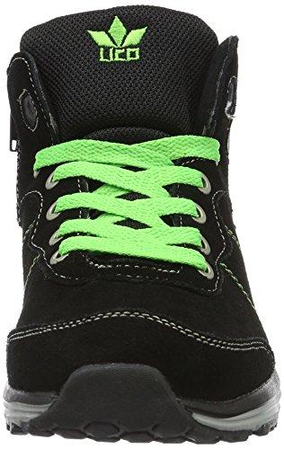 Lico Fox, Sneakers Hautes Mixte Enfant Noir (Schwarz/Lemon)