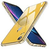 ORETECH Coque iPhone XR, [Ultra-Hybride] Housse Etui iPhone XR Transparente Arrière en Verre Trempé + TPU Silicone Anti-Rayures et Anti-Chocs Coque pour iPhone XR - 6.1'' - Crystal Clear
