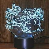 Yoppg 3D Illusion Lampe Led Nachtlicht Touch-Schalter 7 Farben Schreibtisch Optische Illusions Lampen Usb Or Batterie Betrieben Kind Weihnachten Schnee Auto Remote Control