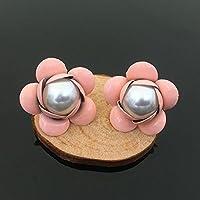 Tangpan 30pcs Pearl Montagna Camelia strass pulsanti/buckleor fai da te ciondolo per fai da te accessori per capelli Dark Pink