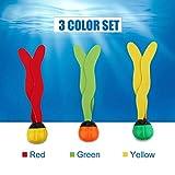 Dive Aquatic Balls, Unterwasser-Pool-Spielzeug-Spiel-Wasser-Tauchens-Bälle, 3pcs schwimmen Boje-Tauchens-Swimmingpool-Spielzeugen Meer-Anlagen-Form-Tauchen spielt Unterwasserspaß für Kinder Erwachsene