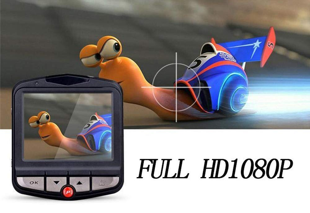 QIjinlook-Mini-Auto-Dashcam-1080P-FHD-Autokamera-DVR-Weitwinkel-Dash-Cam-Advanced-Sensor-Bewegungserkennung-WDR-G-Sensor-Autoladegert-Loop-Aufnahme