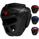 RDX Zero Impact Grill-X Leder Abnehmbarer Gesichtsschutz Kopfschutz, Schwarz, L