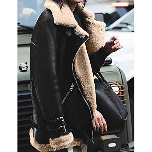 TOPKEAL Jacke Mantel Damen Herbst Winter Sweatshirt Steppjacke Kapuzenjacke Hoodie Warme Revers Biker Motor Pilotenjacke Pullover Outwear Freizeitjacke Coats Tops Mode 2019