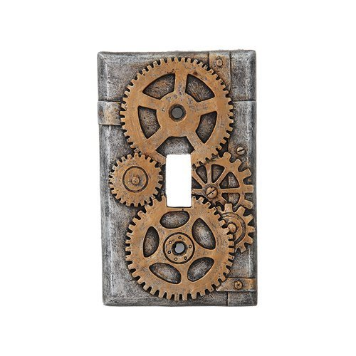 mpunk Light Switch Plate Cover, Gold/Gray by PTC (Light Switch Cover)