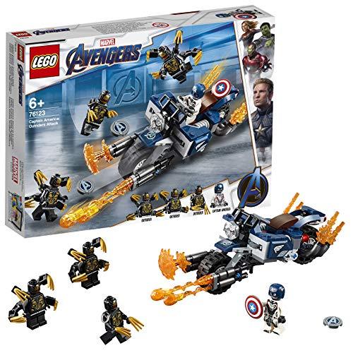 LEGO Super Heroes - Capitán América: Ataque de los Outriders, Juguete de Construcción, Moto con Lanzallamas del Primer… 11