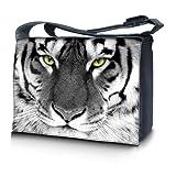 Luxburg design sac en bandoulière sacoche sac collège daily bag 17,3 pouces, motif: Des yeux de tigre