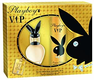 Playboy VIP female EdT 30 ml plus Deo Body Spray 150 ml, 1er Pack (1 x 2 Set)