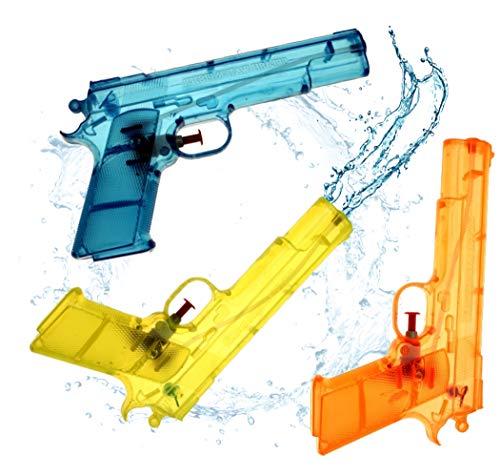 3x Wasserpistolen Set 20 cm Wasserspritzpistole Spritzpistole klein mini Wasser für Kinder als Mitgebsel, Kindergeburtstag, Giveaway, give aways Mitbringsel Jungen Mädchen (3x Stück)