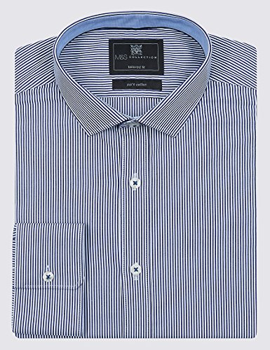 Marks and Spencer -  Camicia classiche  - Uomo Navy