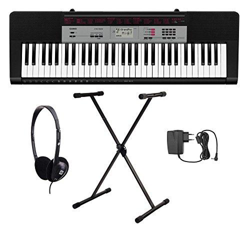 Casio CTK-1500 Keyboard Set (61 Tasten, 32-fach polyphon, Dance Music Mode, Begleitautomatik, inkl. Keyboardständer, Kopfhörer und Netzteil) Schwarz