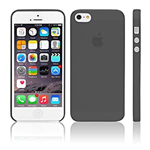 iGard iPhone SE / 5S / 5 Ultra Slim Case 0,3mm Cover Premium Schutzhülle Hülle Schwarz Transparent