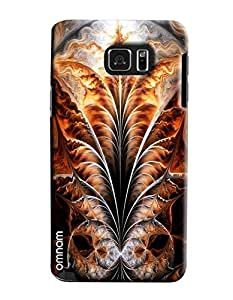 Omnam Leaf With Fire Effect Pattern Printed Designer Back Case Samsung Galaxy Note 5
