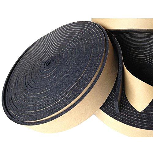 Klebeband Isolierband selbstklebend Schaumband Tape/Band für Kältemittelleitung schwarz 10m Rolle 50mm breit 3mm Stark für die Kältetechnik - Klimatechnik - Lüftung Isolierungsband