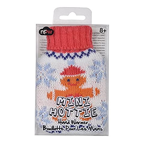 New Snowflake Gingerbread Man Knitted Cover Mini Hottie Reusable Gel Handwarmer