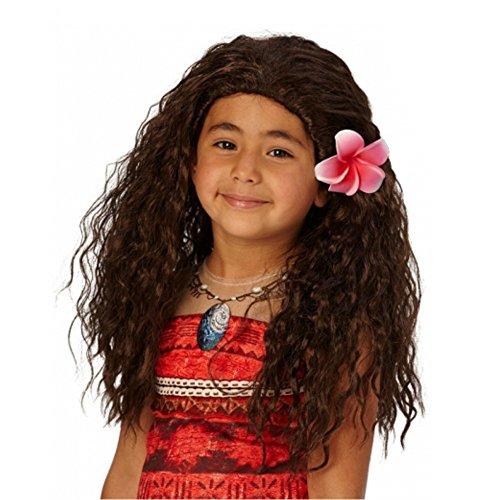 Haare Braune Mädchen Kostüm - Rubies 333963 Kostüm, Mädchen, braun