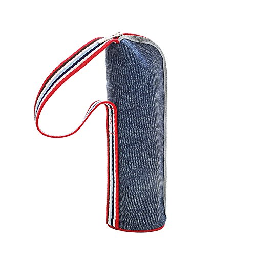 2b6100e7b1 FILWO Insulated Bottle Bag, Waterproof Bottle Cooler Bag Denim Carrier Bag  Water Drinks Cooler Breastmilk
