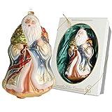 Cáncer Cristal Lauscha Serie-Árbol de Navidad, muñeco de Nieve