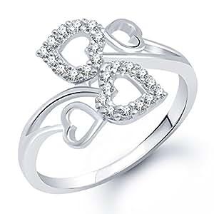 Meenaz White brass Ring For Women -FR176_12